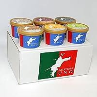 ジェラート専門店ジェラテリアUNO リラックスモード系ジェラート アイスクリーム 6個セット のし メッセージカード対応