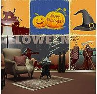 Mingld 5Dhappy Halloween Pumpkin Festivalmural 3D Wall Mural Wallpaper Movie For Sofa Background 3D Photo Murals Wall Paper-150X120Cm
