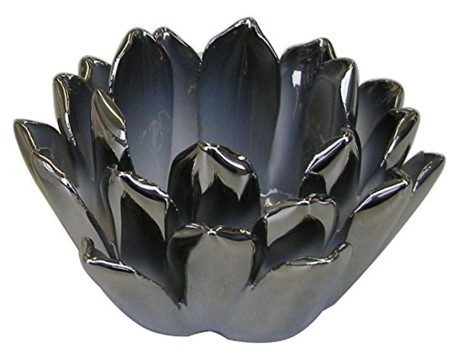 開梱遡るトークマルエス 燭台 陶器製 ロータス 小 シルバー
