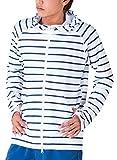 PONTAPES(ポンタペス) 無地8色/柄12色 メンズ レディース ラッシュガード パーカー PR-4200 BDS2-NVY Lサイズ 長袖 UVカット UPF50 + 指穴つき 水着 釣り 人気 ボーダー柄