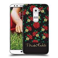 Official Frida Kahlo パターン ローズ ソフトジェルケース LG G2 / D800 / D802 / D801