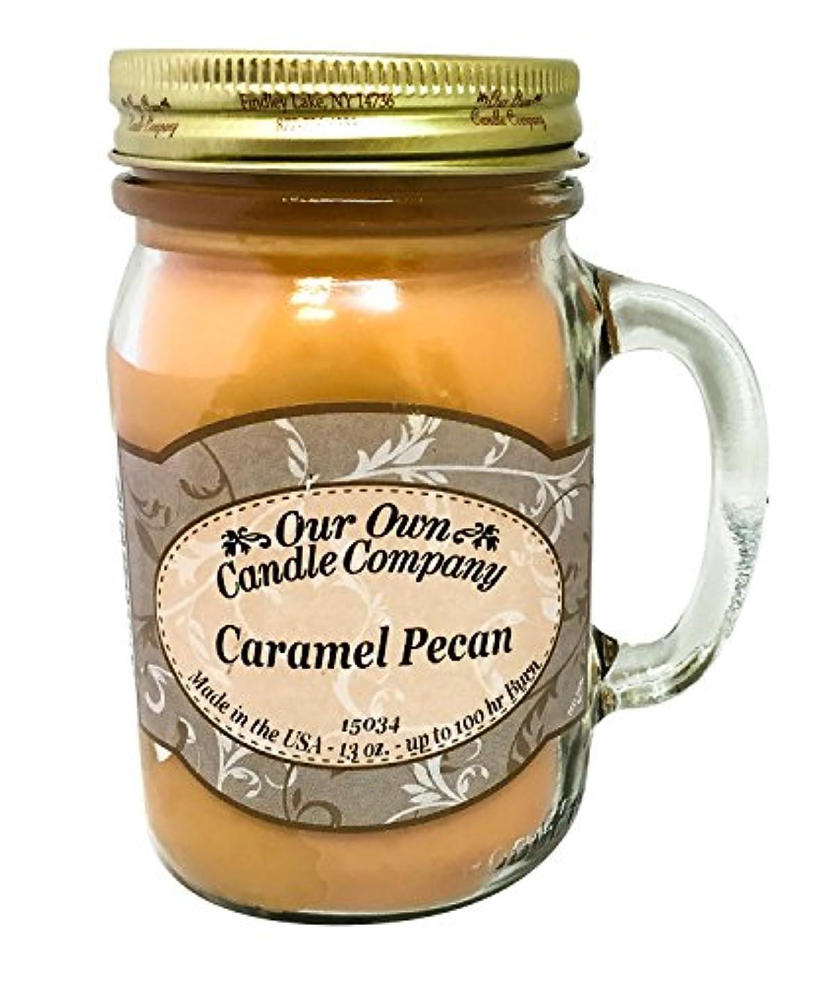 コールド肌垂直アロマキャンドル メイソンジャー キャラメルピーカン ビッグ Our Own Candle Company Caramel Pecan big