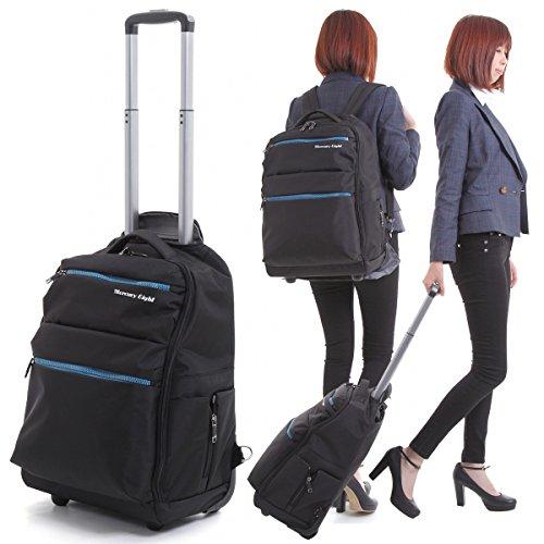 【キャリーバッグ 機内持ち込み 軽量 2WAY】キャリーバック スーツケース 人気 (ブラック)