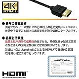 Hanwha スーパースリム ハイスピード HDMIケーブル 1m 細線 HDMI Ver2.0 UMA-HDMI10T