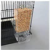 Mess Free Acrylic Auto Bird Cage Feeder Cup for Parrot Canary Finch Cockatiel 400g