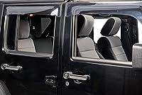 Jaybally 2007-2010 ジープラングラー シートカバー JK Unlimitedのカスタマイズしたネオプレンシートプロテクターエアバッグに適合 防水対応 4 DOOR グレイ 07-24-10
