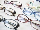 累進多焦点遠近両用老眼鏡(境目のない遠近両用メガネ) 22033PR 5色 7度数 (+2.00, ブラック枠・クリアレンズ)