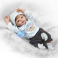 NPK人形RebornベビーシリコンFullビニールボディリアルなAlive Reborn Baby Boy withファイバーヘア23インチ人形Bonecaおもちゃ子供誕生日ギフト