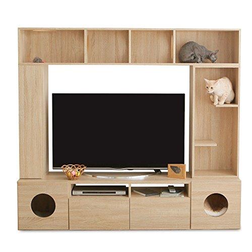 LOWYA (ロウヤ) テレビ台 キャットウォーク 猫ハウス...