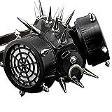 ガス フェイスマスク ハーフ フェイス マスク スタッズ付き 歯車 蒸気パンク マスク 男女兼用 コスプレ ロック 系 ゴシック アクセサリー Steampunk 006