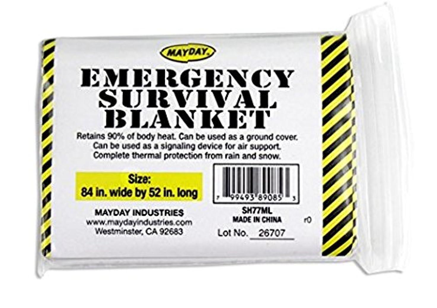 左悲惨な幻滅するEmergency Survival Solar Blanket - 1 Person by Mayday Industries