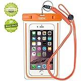 iPhone6/Samsung 防水ケース EOTW® 防水携帯ケース 救助用ネックストラップ付属 IPX8