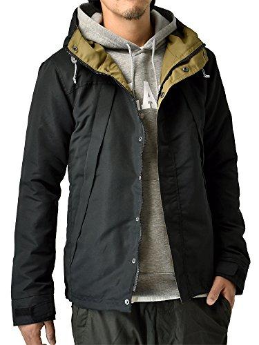 (アルージェ) ARUGE マウンテンパーカー マンパー アウトドアジャケット メンズ おしゃれ 大きいサイズ / D8K / M 41ブラック