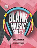 Blank Music Sheets: 12-Staff Music Composition Notebook | Headphone Cover [Pink Theme]