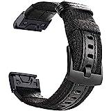 YOOSIDE Watch Band for Fenix 5X/Fenix 6X, 26mm QuickFit NOTA Woven Durable Nylon Military Wristband Strap for Garmin Fenix 5X