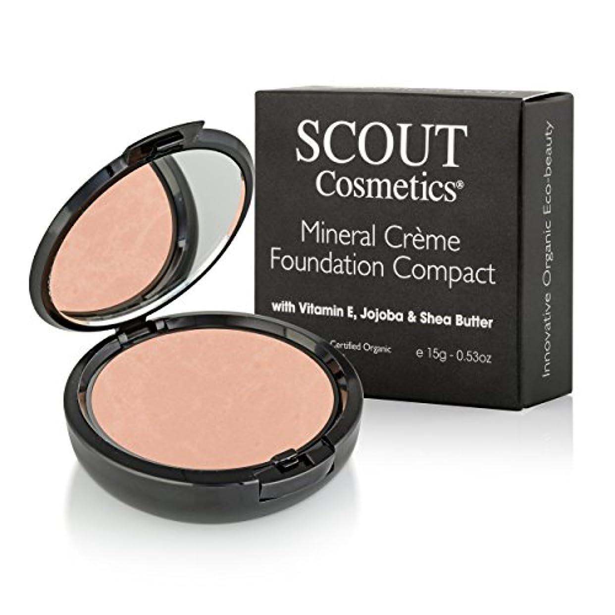 解説歴史的特殊SCOUT Cosmetics Mineral Creme Foundation Compact SPF 15 - # Camel 15g/0.53oz並行輸入品