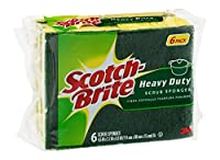 Scotch-Brite Heavy Duty Scrub Sponge, 18 Sponges (6 x 3 Count Packages) by Scotch-Brite