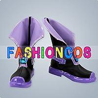 ★サイズ選択可★男性25CM UA1669 超次元ゲイム ネプテューヌ ネプテューヌ コスプレ靴 ブーツ
