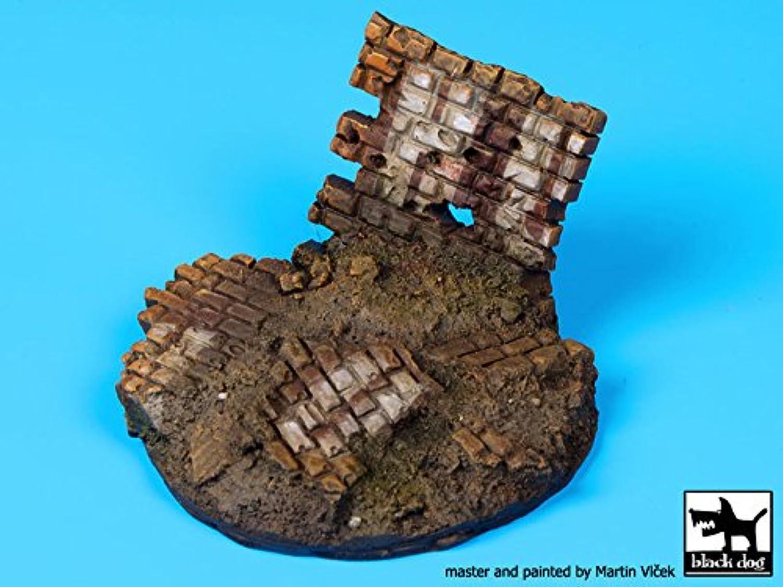 ブラック犬1 : 35 Ruined壁Vignette樹脂ベース# d35035