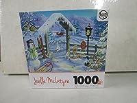 Joelle McIntyre冬庭ゲートジグソーパズル1000ピース