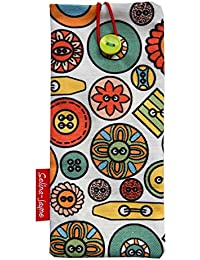 selina-jayneボタンLimited Edition Designer Soft Fabricメガネケース