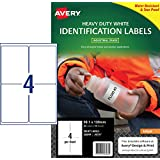 Avery White Heavy Duty Labels for Inkjet Printers, Water-Resistant, 99.1 x 139 mm, 40 Labels (936068 / J4774)
