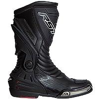 RST 2102Tractech Evo IIIスポーツCE防水オートバイのブーツ–ブラック 43 ブラック 102102BLK-43