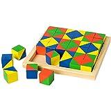 積み木 36個入り 模様づくり カードセット 積木 ブロック おもちゃ 知育 遊び 知育遊び 知育玩具 学べる 3歳 4歳 5歳 6歳 子供 キッズ プレゼント 誕生日 教育玩具 模様作り 学習玩具 右脳 支援センター 児童クラブ
