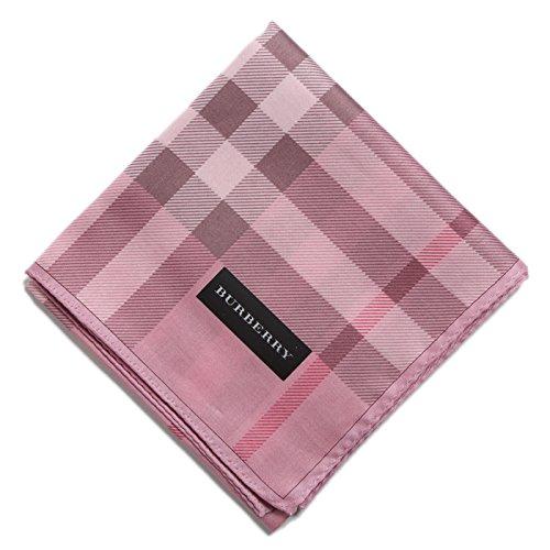 バーバリー チェックハンカチ ピンク系 d-000702 メンズ BURBERRY レディース