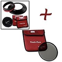 WonderPana XL Essential CPLキット–コアフィルタホルダー、レンズキャップ& 186MM CPLフィルタfor Canon EF 11–24mm f/4l USMレンズ(フルフレーム35mm)