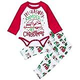 (プタス) Putars 赤ちゃん幼児の女の子の手紙のトップス+パンツクリスマスコスチュームの装飾 6 ヶ月-24 ヶ月