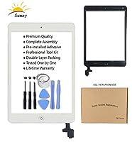 ホワイトiPad miniモデルa1432a1454a1455a1489a1490ガラス交換デジタイザ交換用交換用フル画面デジタイザガラスアセンブリキットには、粘着ステッカーとプロフェッショナルツール