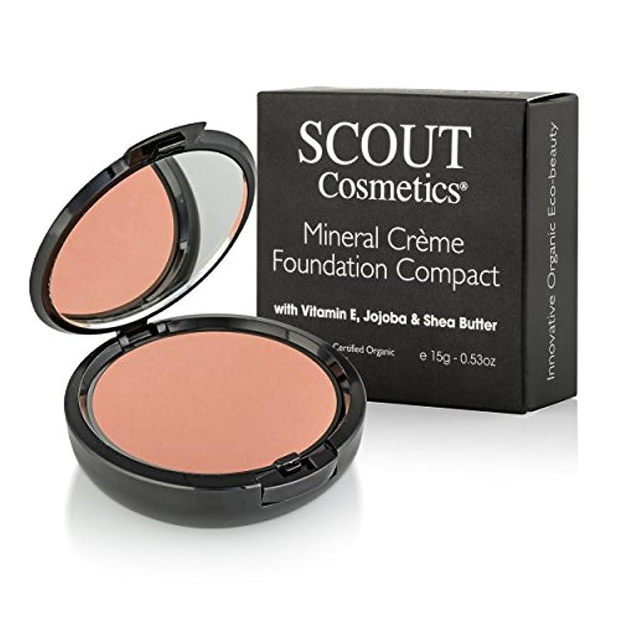 消費する困惑した単調なSCOUT Cosmetics Mineral Creme Foundation Compact SPF 15 - # Caramel 15g/0.53oz並行輸入品