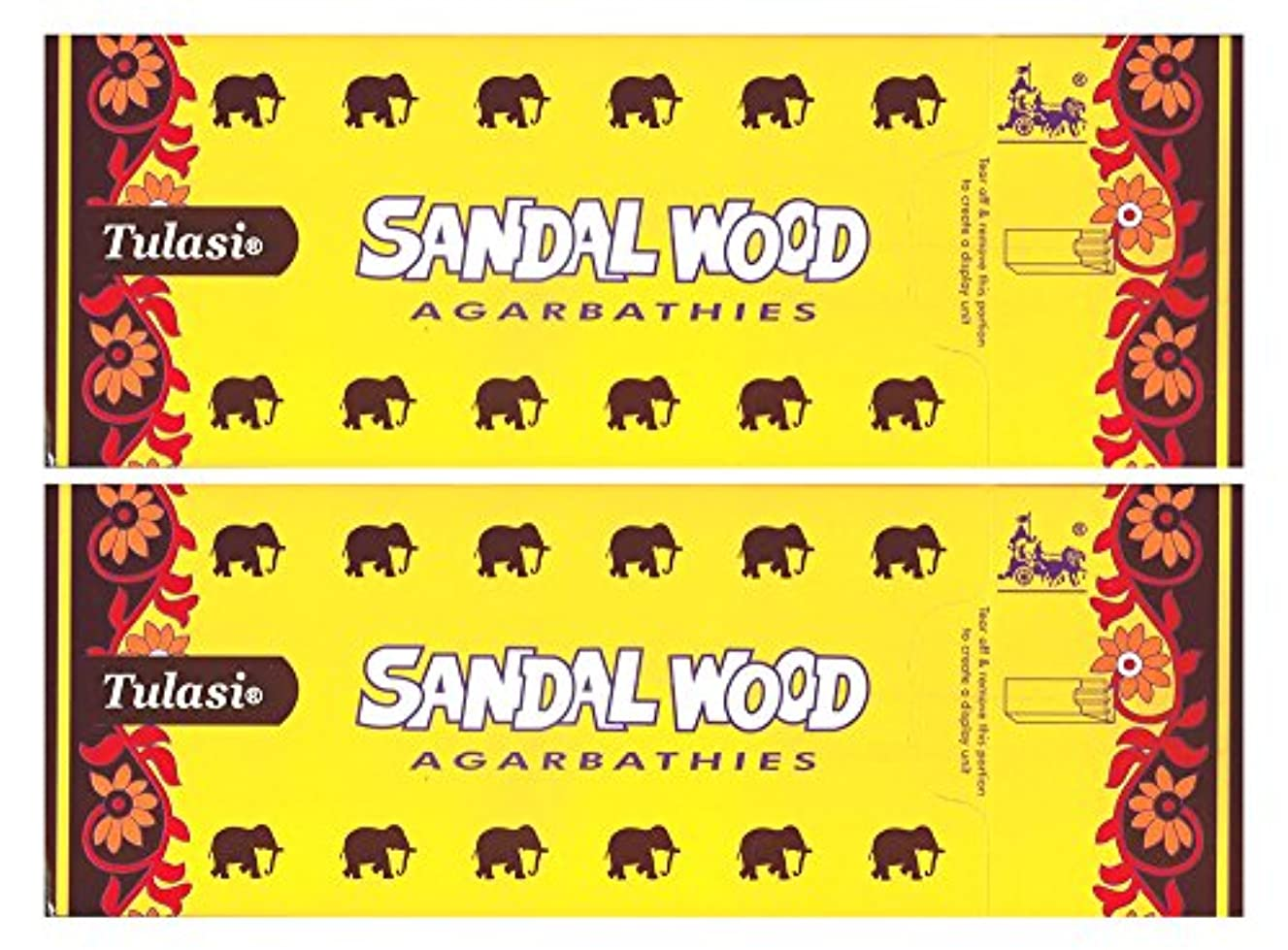 絶滅させる狭い聞きますトゥラシ サンダルウッド 12個セット