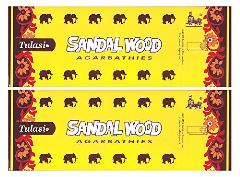 醜い尾予防接種するトゥラシ サンダルウッド 12個セット