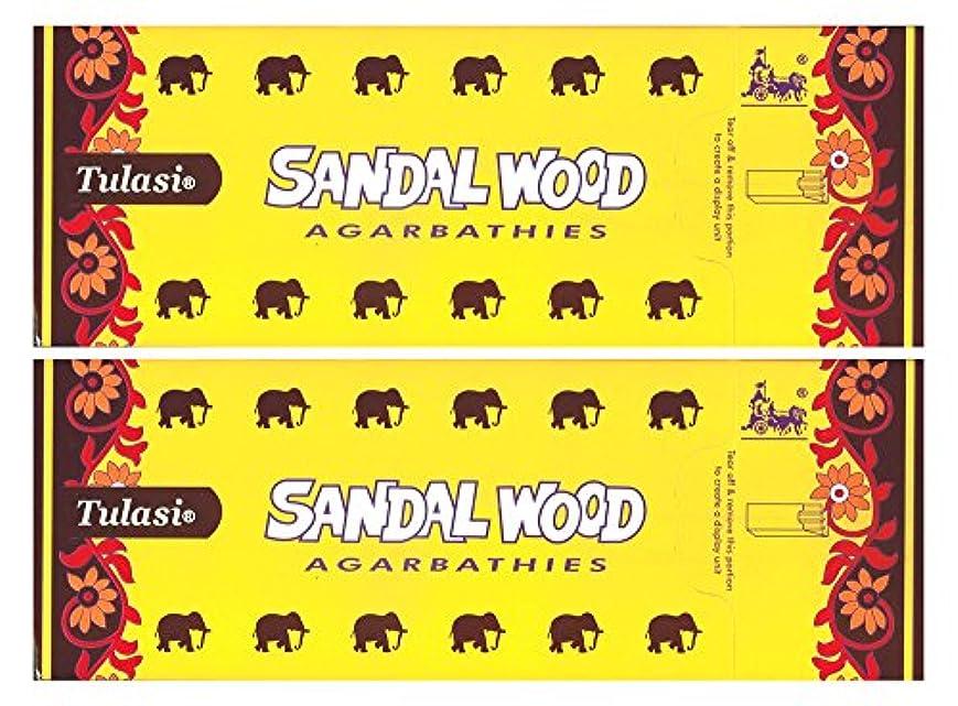 祭り実質的に測定トゥラシ サンダルウッド 12個セット