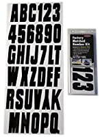 Hardline Products Series 350 Factory Matched 3-Inch Boat & PWC Registration Number Kit, Solid Black by Hardline Products