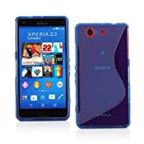 ドコモ Xperia A4 TPU グリップカバーケース ( docomo SO-04G 対応 ) 薄型軽量18g / 滑止めグリップ加工 / ソフトフィットモデル / 半透明クリア 【MY WAY 出品カラー全5色 : 簡易防水パッケージ】 (Xperia A4 (SO-04G), Design S Blue (青))