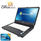 【Microsoft Office2010搭載】【Win 7搭載】富士通 A8280/新世代Core 2 Duo 2.53GHz/大容量メモリ4GB/DVDドライブ/大画面15インチ/無線LAN搭載/中古ノートパソコン (メモリー4GB ハードディスク 120GB)