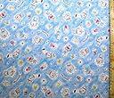 キャラクター ダブルガーゼ生地 ドラえもん(ブルー)#28(商品の特性上 柄が多少歪んでいる場合がありますのでご了承ください。)( ダブルガーゼ生地 Wガーゼ マスク ハンカチ スタイ 赤ちゃん ベビー キッズ ピロル)