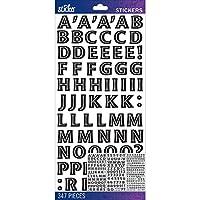 Sticko Alphabet Stickers-Black Moonglow Medium (並行輸入品)