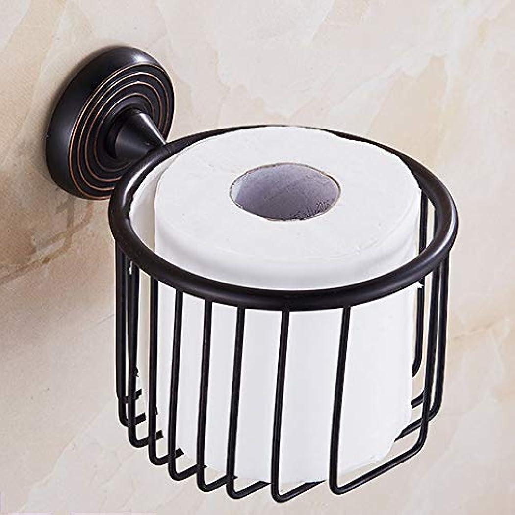 ZZLX 紙タオルホルダー、ヨーロッパスタイルのフル銅模倣アンティークペーパータオルロールペーパーホルダー ロングハンドル風呂ブラシ (色 : B)