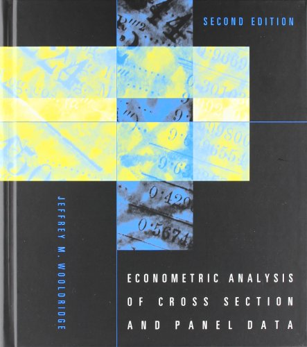 Econometric Analysis of Cross Section and Panel Data (MIT Press)の詳細を見る