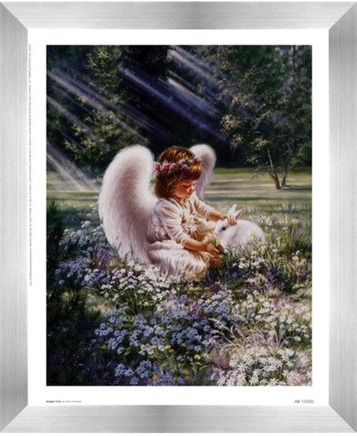 乳白色撃退する中止しますAn Angels Care by Dona Gelsinger – 9 x 11インチ – アートプリントポスター 8  x 10  Inch LE_63552-F9935-9x11