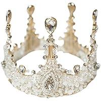 micia luxury(ミシアラグジュアリー) ビジュークラウン へッドドレス アクセサリー レディース こども 結婚式 ウェディング 衣装 ティアラ 43cm