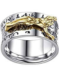 LineAve Men's Stainless Steel Jesus Christ Crucifix Ring