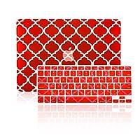 """TopCase 2in 1–Quatrefoil /モロッコTrellisウルトラスリム軽量ゴム引きハードケースカバーと一致する色Quatrefoil /モロッコTrellisキーボードカバーApple MacBook Pro 13.3"""" with Retina Displayモデル: a1425とa1502(最新バージョン2013) Macbook Pro 13"""" with Retina RET13P-QF-RD-2-IN-1"""