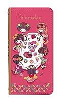手帳型 スマホケース [Xperia A4 SO-04G] ケース まーち デザイン キャラクター かわいい 0148-D. 女の子会議ピンク so-04g 手帳型ケース おしゃれ 人気 エクスペリア エーフォー エクスペリアa4 ケース ベルトなし