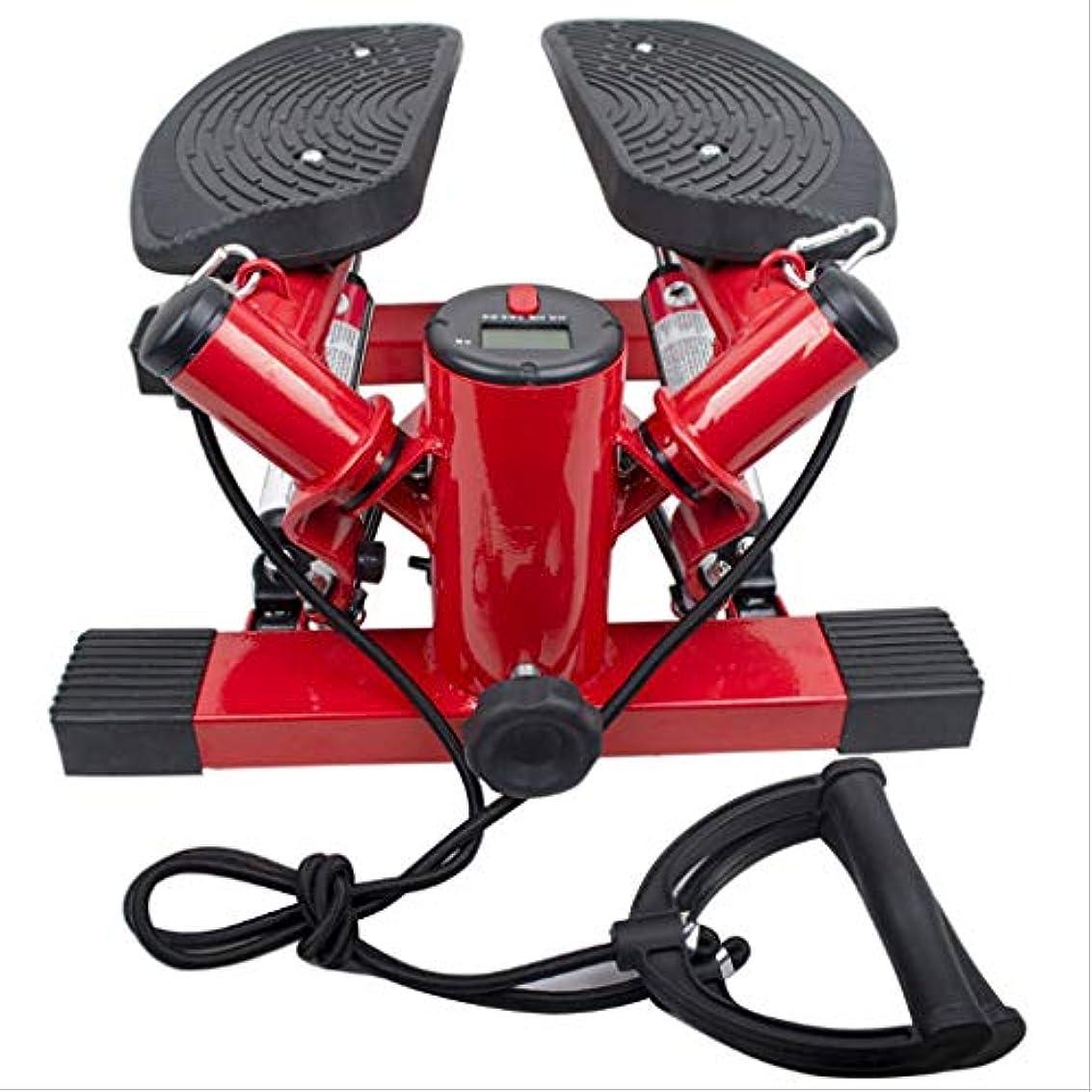傾いた煙ソーシャルステッパーステッパー家庭用フィットネス機器ミニホームトレーナーミニステッパー - ペダルマシン