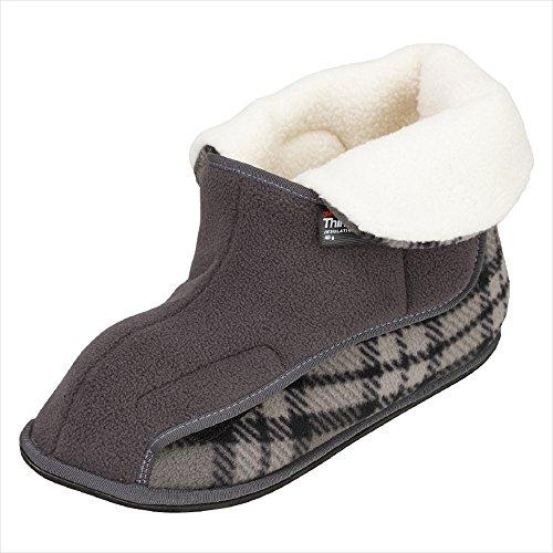 あゆみ 介護靴 2245ワイドボアオープン グレーLL 25.0-26.0cm 左足 室内用